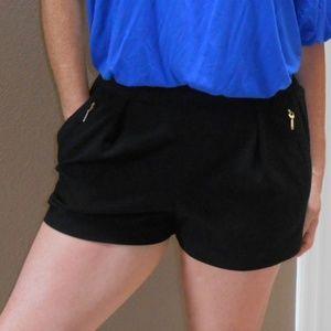 Flowy Forever 21 Dressy Black Shorts Elastic Waist